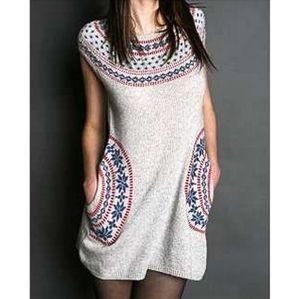 {Anthropologie} Fair Isle Sweater Dress